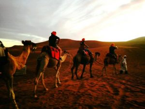 Camel Ride in desert camp Merzouga